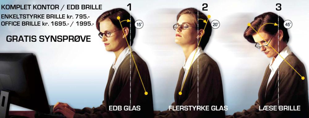 brilleglas med glidende overgang
